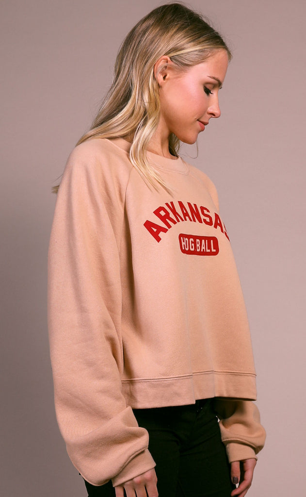 charlie southern: hog ball crop sweatshirt