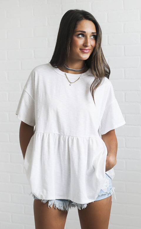 hope for the best flowy top - cream