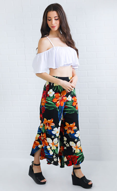 hot tropic floral pants
