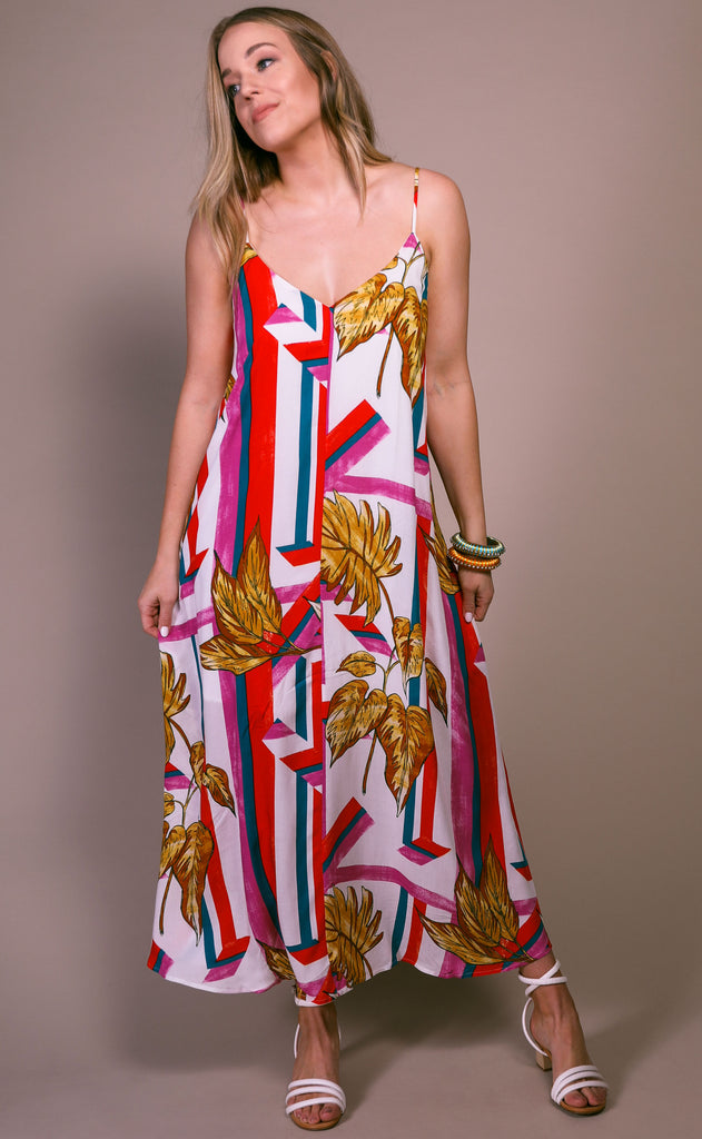 hot tropic printed dress