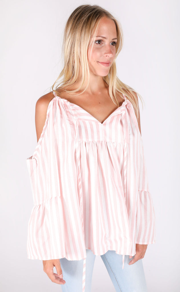 ice cream parlor striped top