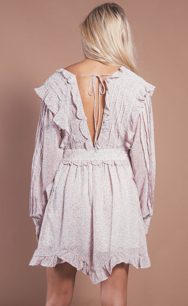 pretty posey ruffle dress