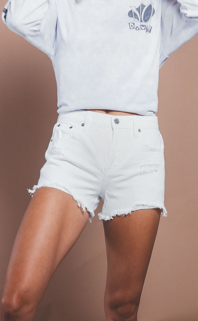 pistola: nova high rise cut offs - white lightening