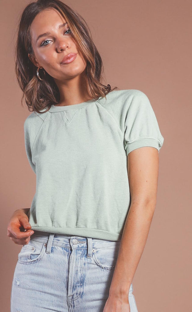 project social t: city short sleeve sweatshirt - desert sage