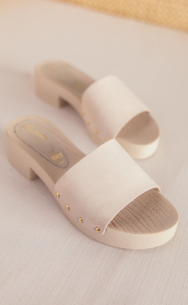 seychelles: good spirits sandal - white monochromatic