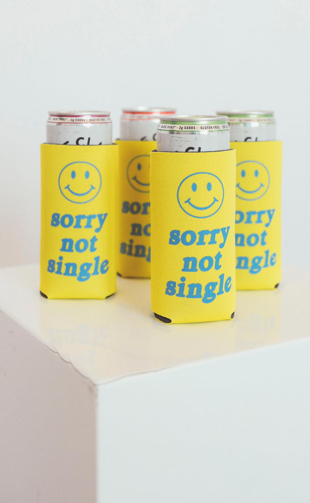 friday + saturday: sorry not single skinny drink sleeve [set of 4]