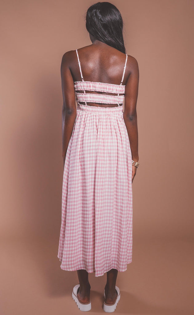 everything's rosy midi dress