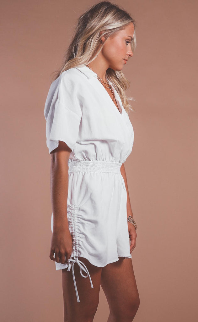 going steady surplice romper
