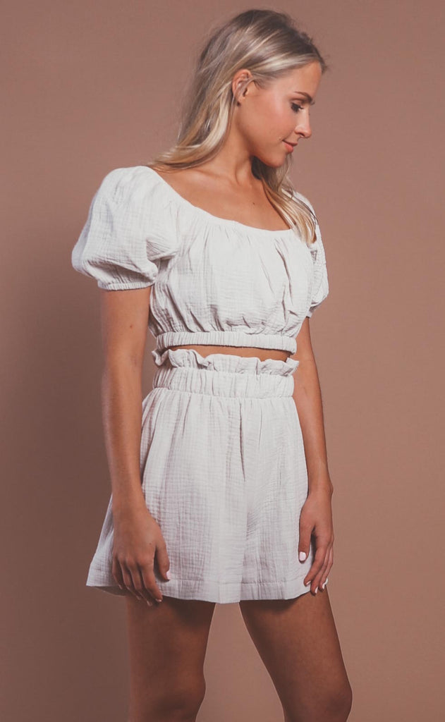 walking on sunshine two piece set - tan