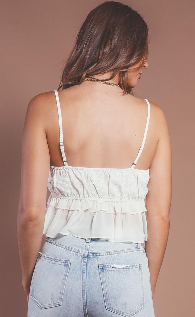heart flutter ruffle top