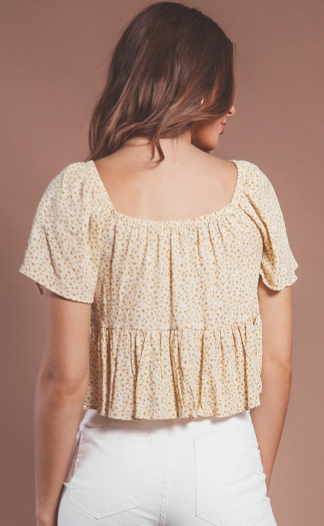 wild honey printed blouse