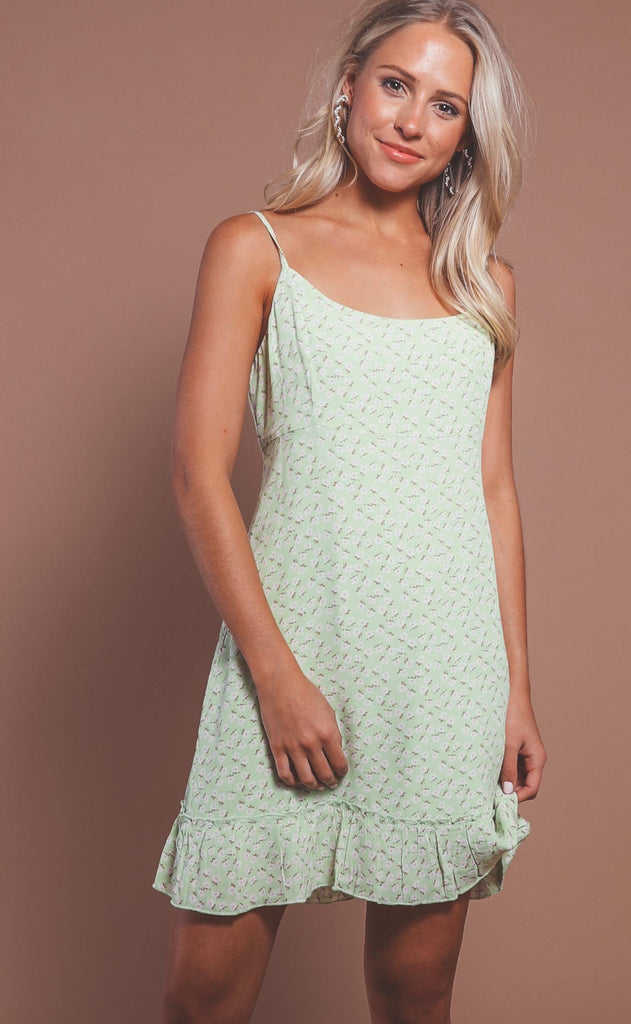 forever young floral mini - lime