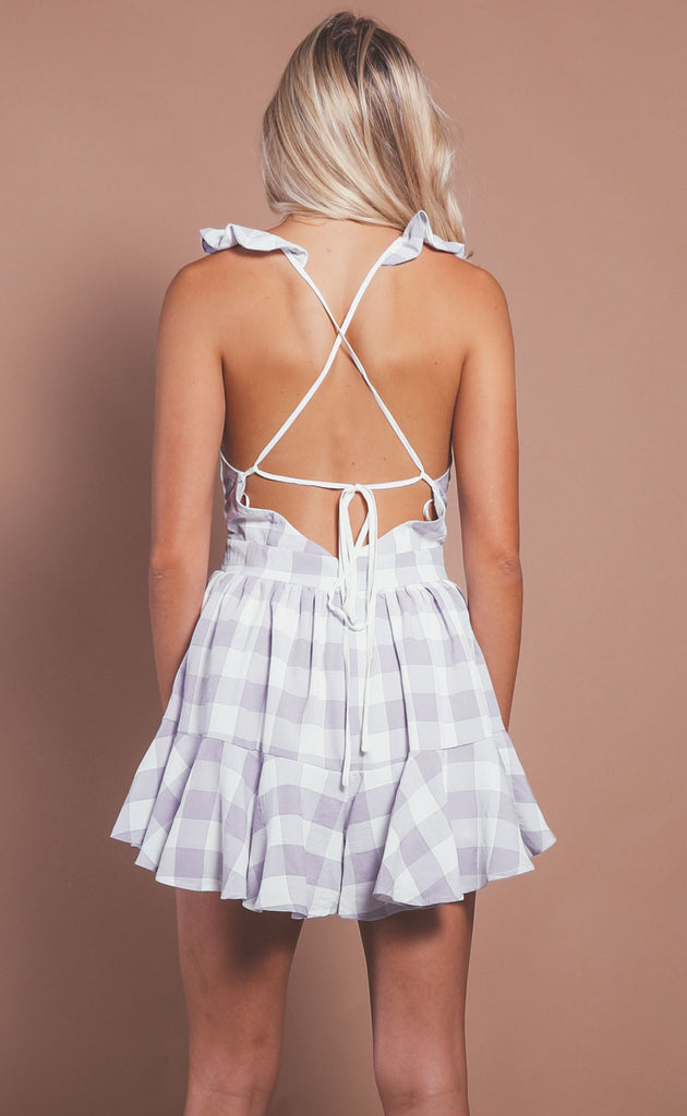 take me on a picnic romper - lavender
