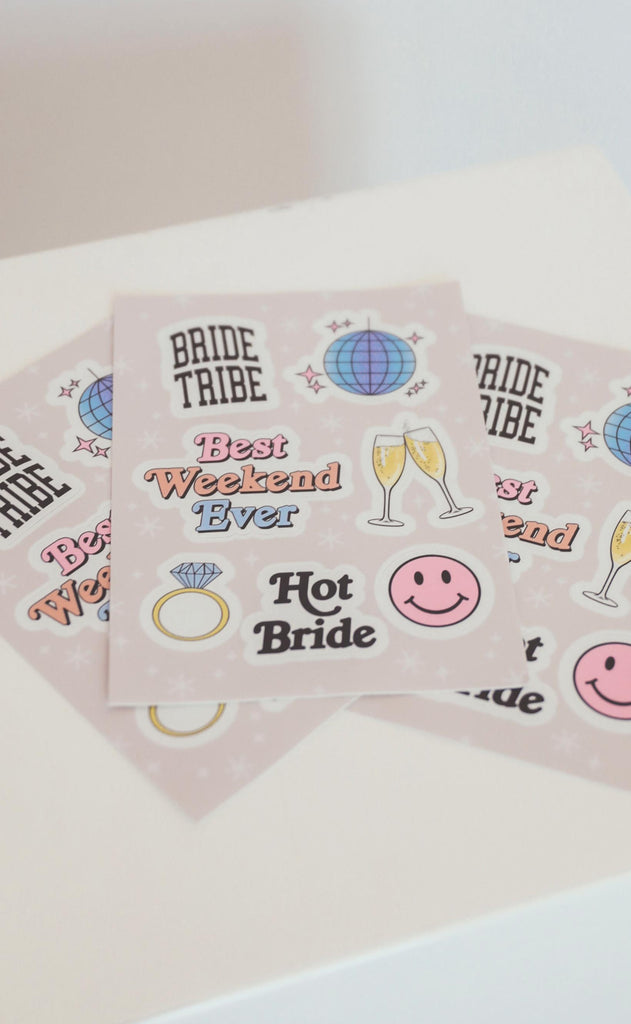 friday + saturday: bridal sticker sheet