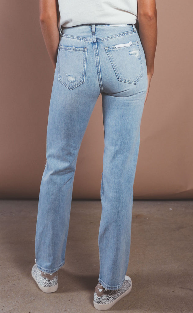 pistola: cassie super high rise straight jeans - by my side