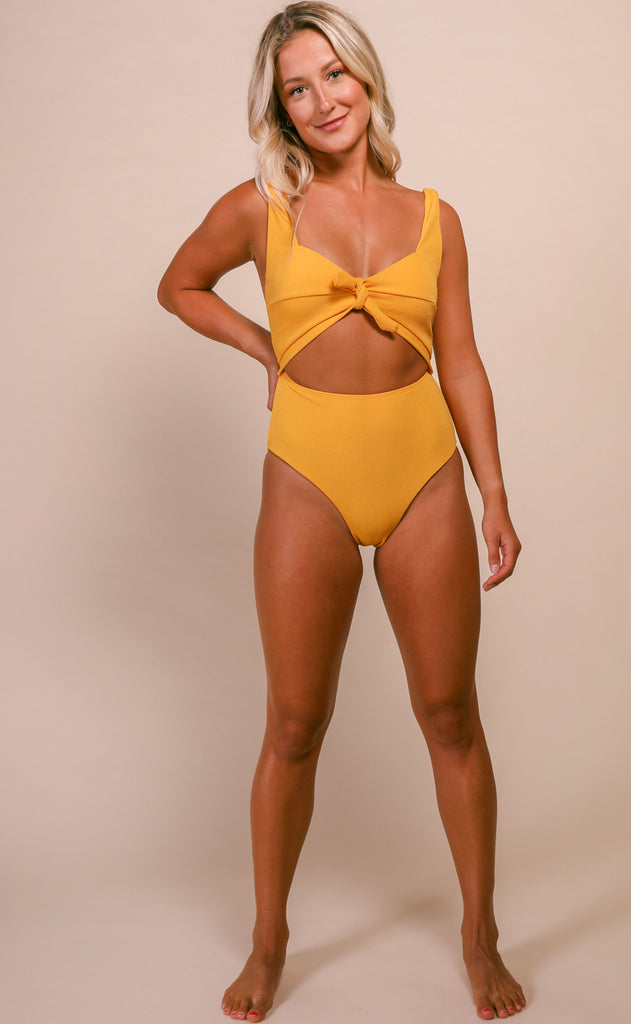 high tide front tie swimsuit [multiple colors available]