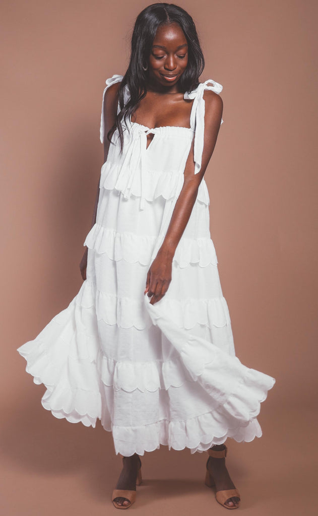 love is in the air tiered maxi - ivory
