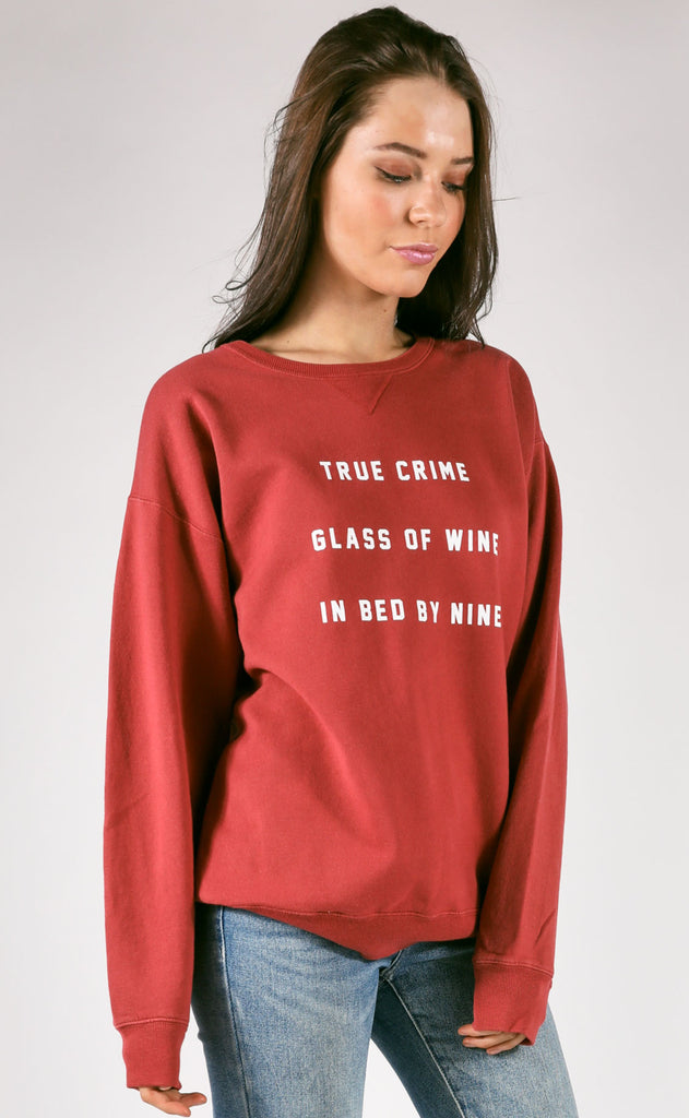 friday + saturday: true crime sweatshirt