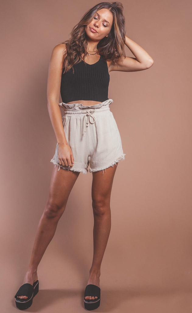 blank nyc: textured linen shorts - away from here