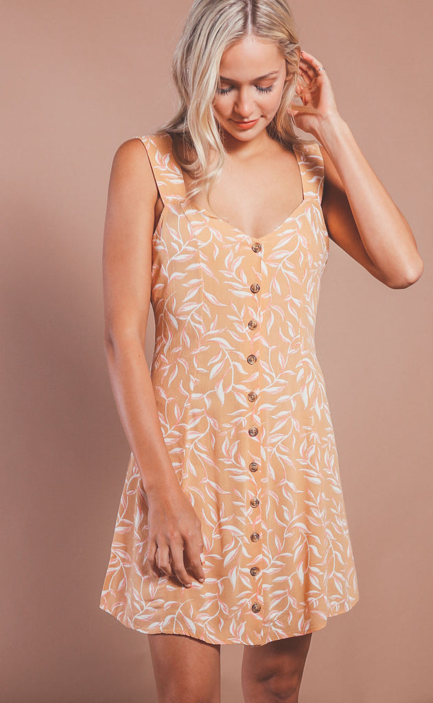 amuse society: parker woven mini dress - sahara sand
