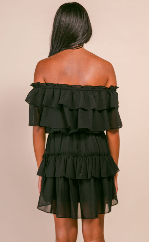 buddy love: kiera dress - black