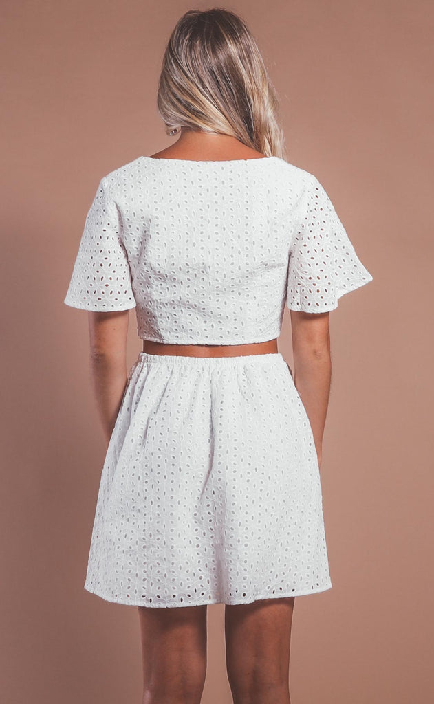 sunny daze eyelet dress