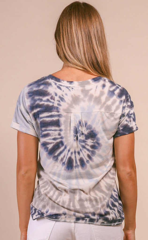 z supply: multicolor tie-dye tee - indigo