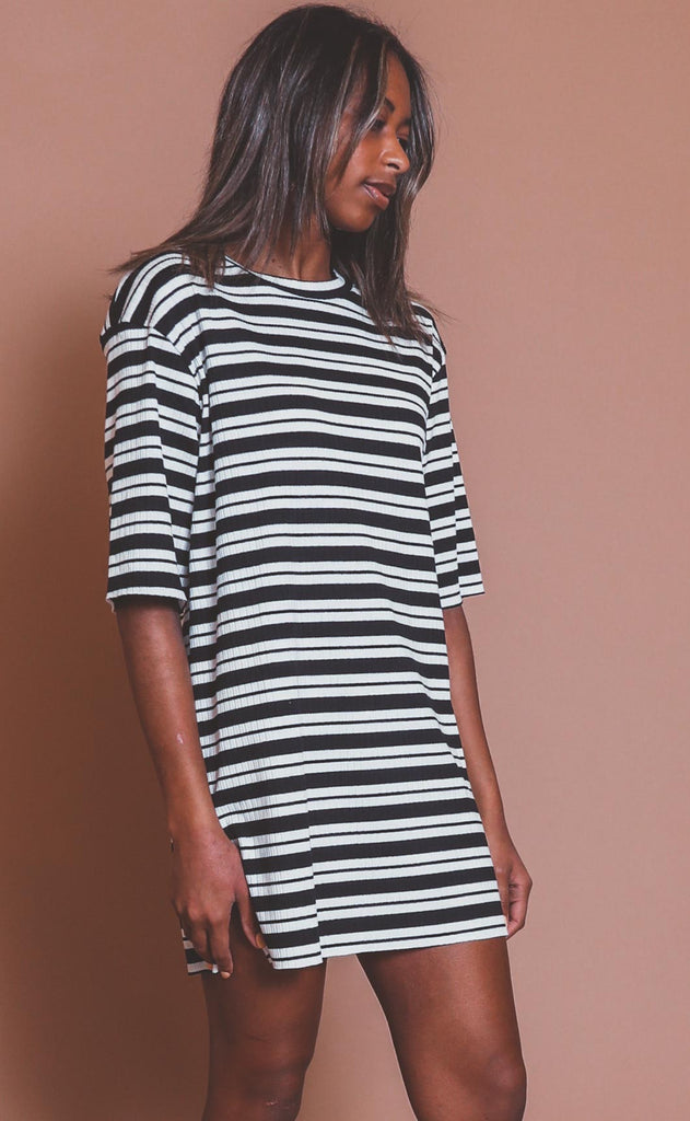 roll with it striped dress