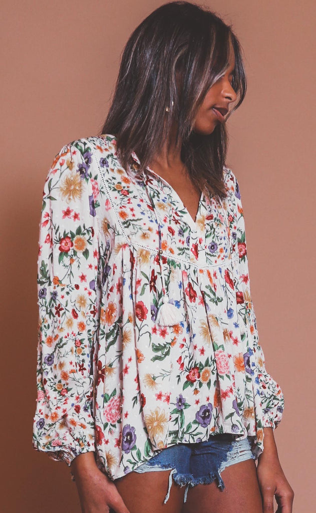 brunching in blooms blouse