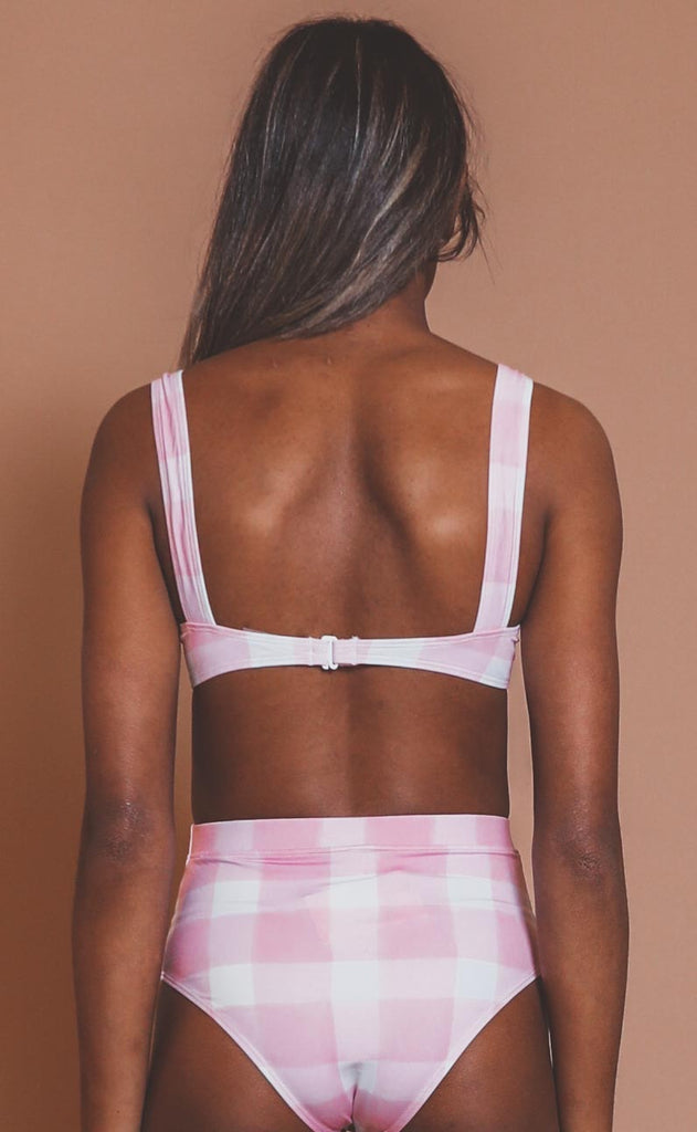 solid & striped: lilo top - cloud pink gingham