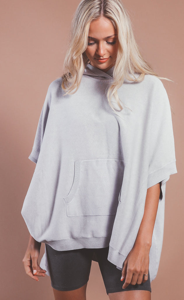 barefoot dreams: sunbleached poncho - soft violet