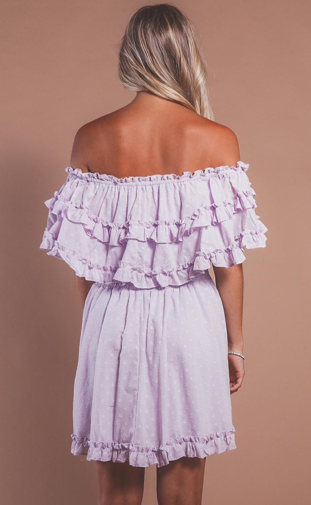 lavender dream ruffle dress