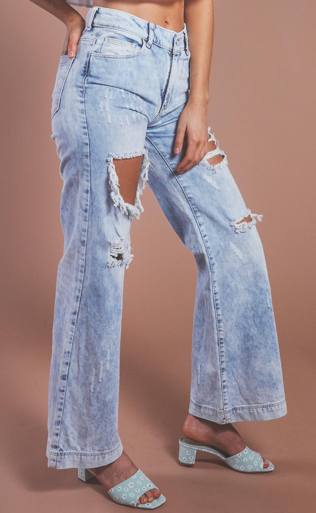 perfect pair distressed boyfriend jeans