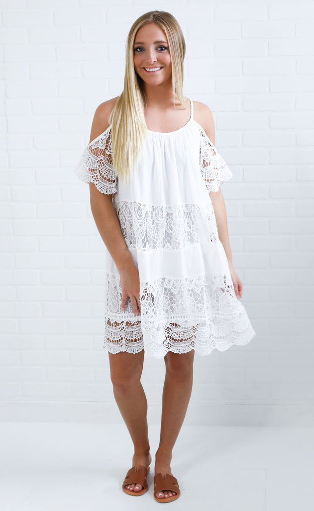 in it for the frill lace dress