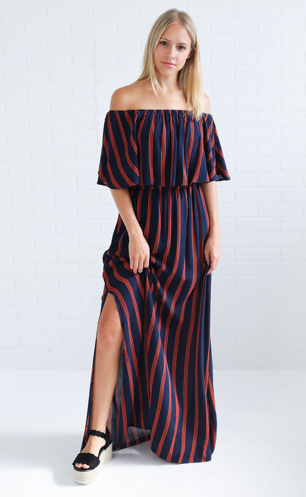 in the game maxi dress - navy