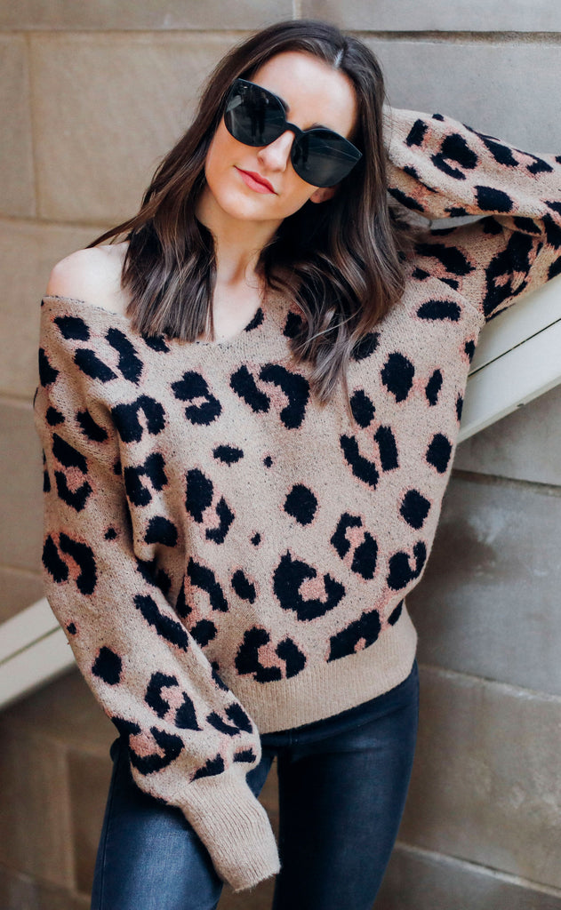 in the jungle knit sweater