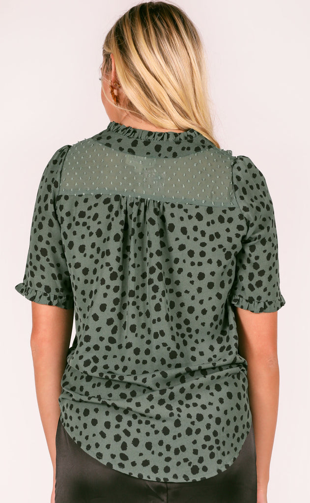 in the mix printed top