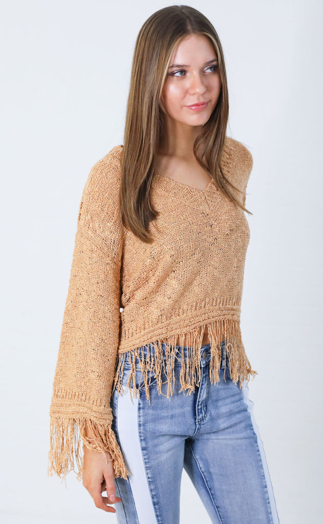 indio fringe sweater
