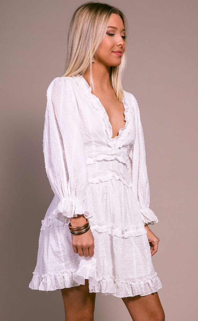 island bound ruffle dress