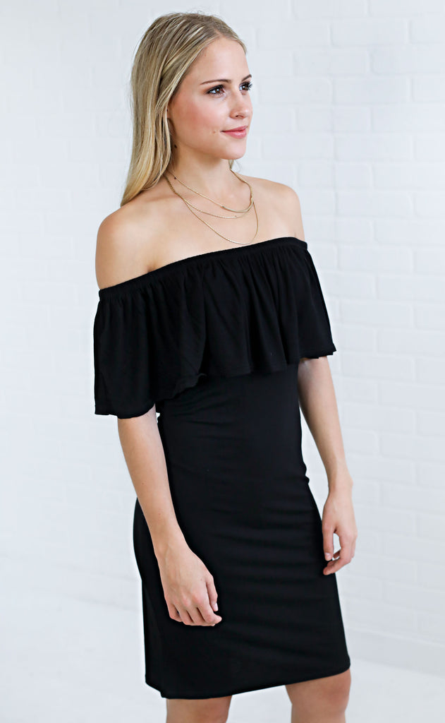 island hopper off the shoulder dress