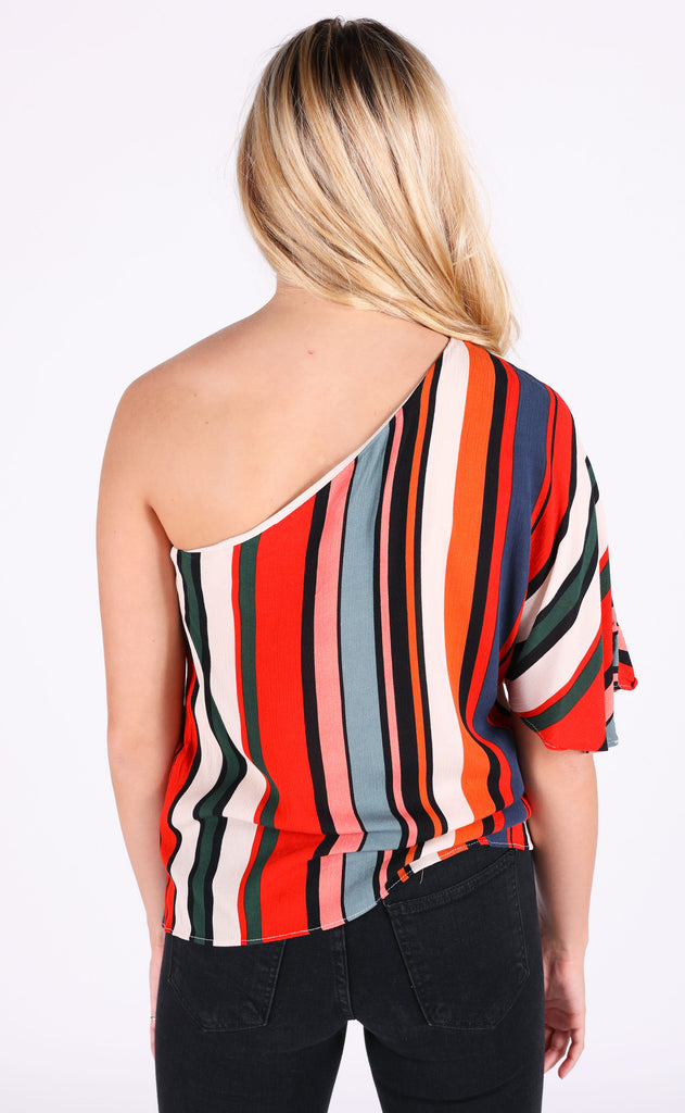 across the way one shoulder top