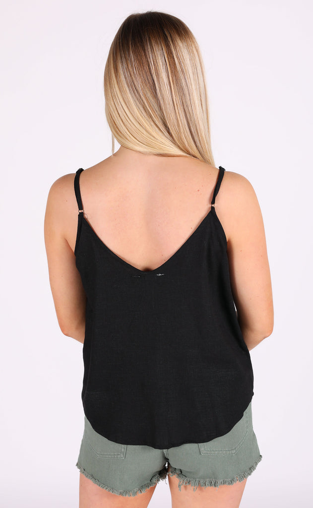 it's a date button up top - black