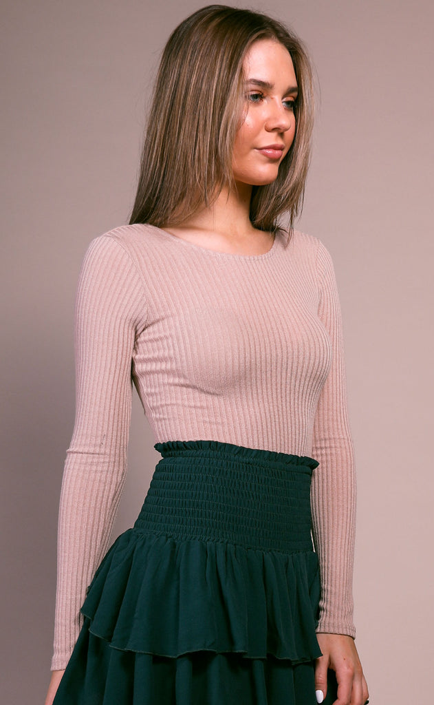 jet set ribbed top