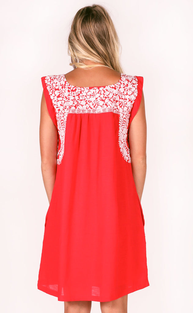 j.marie: regina dress - red/white