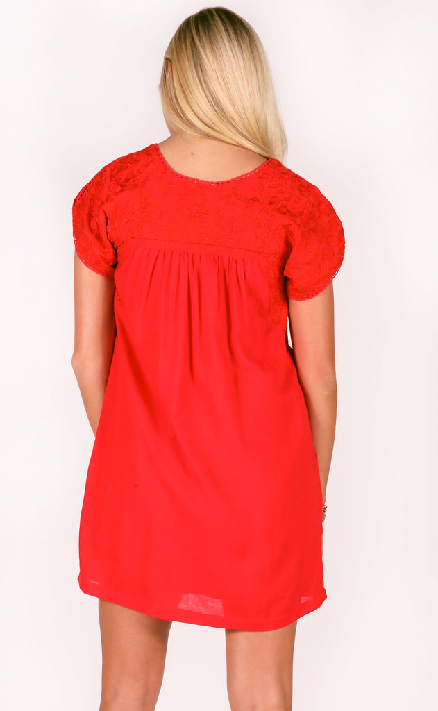 j.marie: scarlett dress - red