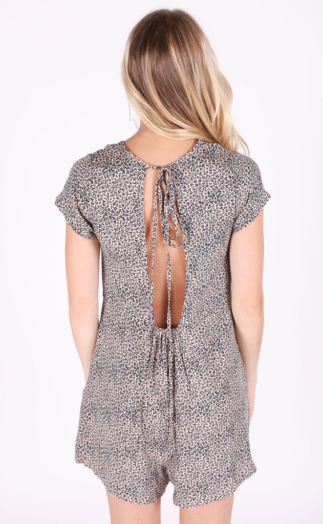 jungle cat leopard romper