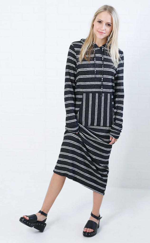 just chill striped maxi dress