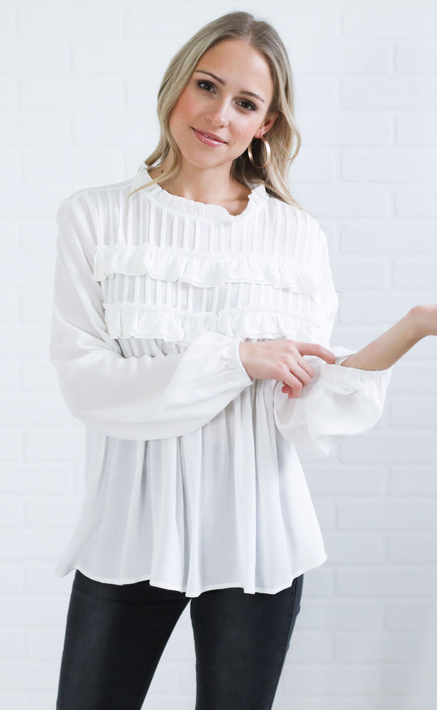 just pleat it ruffle top