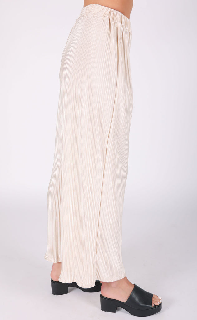 just pleat it flare pants - beige