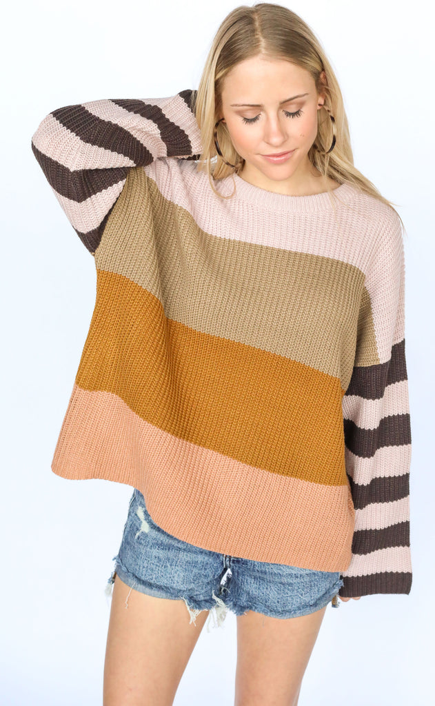keep knit cool striped sweater